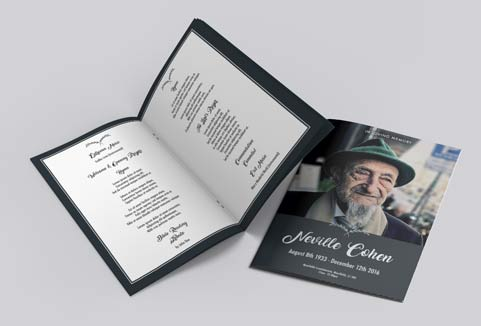 Free Funeral Order Of Service Design Templates Print Print