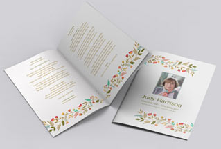 Simple Flowers 00511 Download All Order Of Service Templates