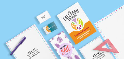 Designed and blank artwork templates
