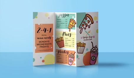 Fast food tri fold menu design